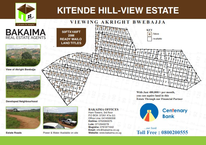 Kitende Hill-view estate